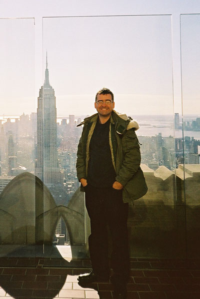 On 'Top Of The Rock' at the Rockefeller Centre - that's the Empire State Building!