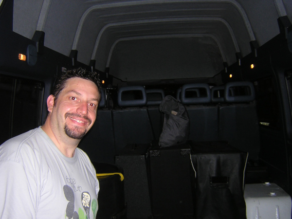Tim taking joy in the Loading Of The Van